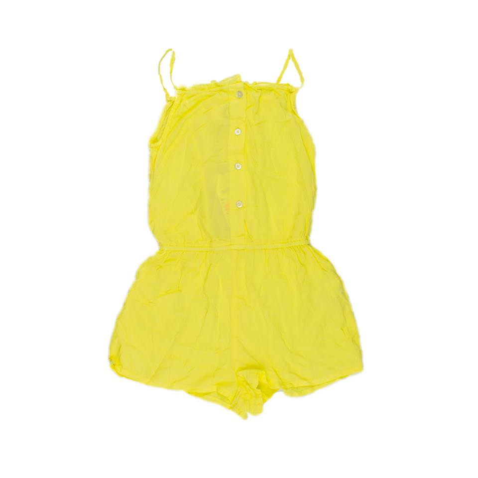 37-782205 -02-6-y Cotton on Carry Short Jump Suit - Yellow Yellow 1