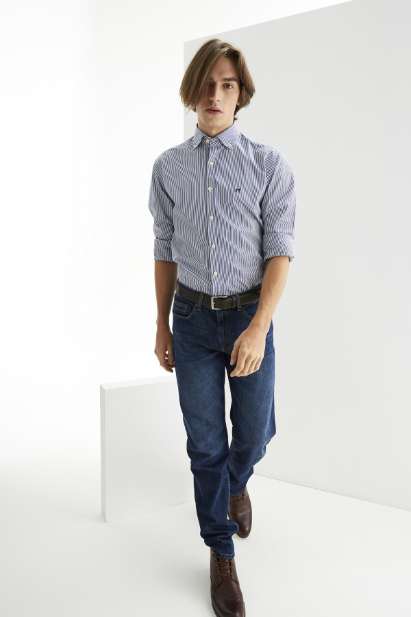 Sacoor-Brothers-Mens-Slim-Fit-Striped-Shirt-1-1